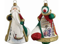 Italy Santa Glass Christmas Ornament