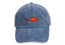 Shark Embroidered Baseball Cap on Midnight Navy