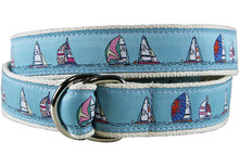 Rounding the Mark ladies Ribbon Belt in Caribbean Blue