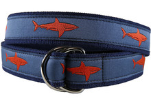 Shark Ribbon Belt (Blood Orange D-Rings)