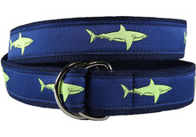Shark Ribbon Belt (Lime D-Rings)