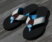 tan anchor flip flops