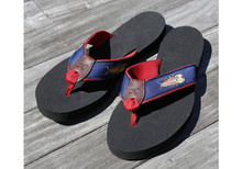 Eric Hopkins Fish Flip Flops (Navy)