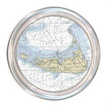 Nantucket Nautical Chart Decoupage Coaster