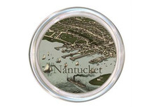 Nantucket Port Antique Map Decoupage Coaster