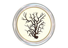 Brown Coral Decoupage Coaster (B)
