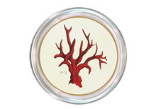 Red Coral Decoupage Coaster