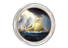Sailboat Decoupage Coaster (#2)