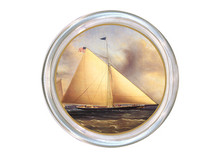 Sailboat Decoupage Coaster