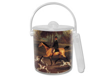 Hunt Scene Lucite Ice Bucket