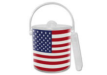 American Flag Lucite Ice Bucket (#2)