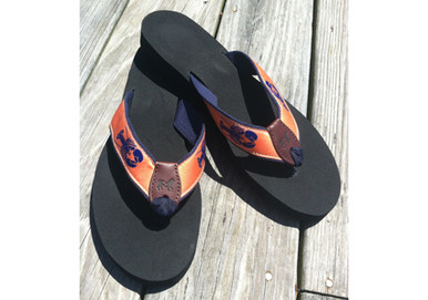 Melon Lobster Flip Flops
