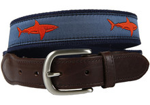 Shark Belt Blood Orange (Leather Tab)