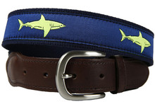 Shark Belt Lime (Leather Tab)