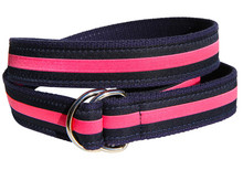 Pink Stripe Ladies Ribbon Belt