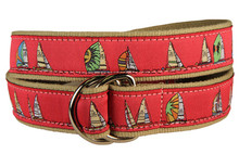 Rounding the Mark Ribbon Ladies Belt in Cranberry