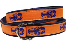 Lobster Ribbon Ladies Belt in Melon