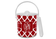 Chelsea Grande Red Lucite Ice Bucket