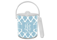 Chelsea Grande Light Blue Lucite Ice Bucket