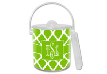 Chelsea Grande Lime Green Lucite Ice Bucket
