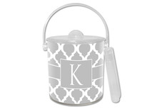 Chelsea Grande Grey Lucite Ice Bucket