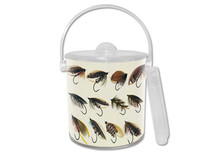 Fly Fishing Lucite Ice Bucket