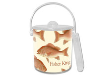 Red Snapper Lucite Ice Bucket