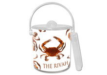 Cooked Crab Lucite Ice Bucket