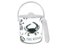 Blue Crab Lucite Ice Bucket