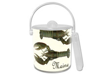 Fresh Lobsters Lucite Ice Bucket
