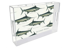 Swordfish Personalized Lucite Tray