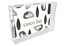 Mussel Shell Personalized Lucite Tray