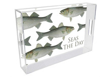 Striped Bass Personalized Lucite Tray