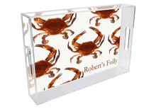 Cooked Crab Personalized Lucite Tray