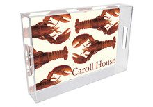 Cooked Maine Lobsters Personalized Lucite Tray