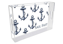 Anchors Personalized Lucite Tray on White