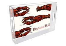 Crawfish Personalized Lucite Tray