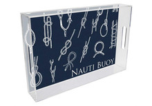 Nautical Knots Personalized Lucite Tray