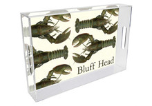 Fresh Lobsters Personalized Lucite Tray
