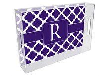Chelsea Grande Lucite Tray in Purple