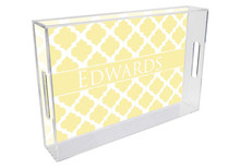 Chelsea Grande Lucite Tray in Butter