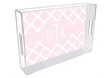 Chelsea Grande Lucite Tray in Light Pink