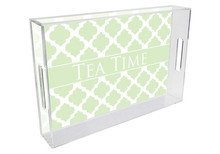 Chelsea Grande Lucite Tray Mint Green
