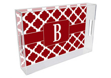 Chelsea Grande Lucite Tray in Red