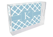 Chelsea Grande Lucite Tray in Pale Blue