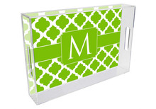 Chelsea Grande Lucite Tray in Lime Green