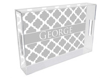 Chelsea Grande Lucite Tray in Grey