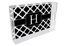 Chelsea Grande Lucite Tray in Black