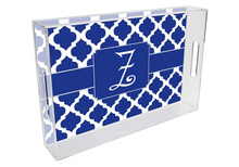 Chelsea Grande Lucite Tray in Royal Blue