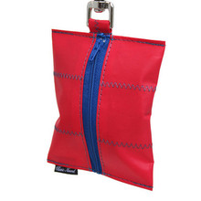 Dog Waste Bag Dispenser in Sailcloth Red Port